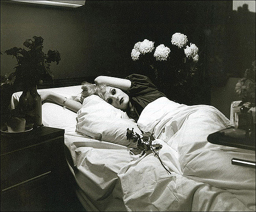 Candy Darling on bed