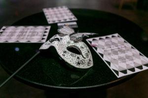 Black & White Masquerade Ball Table