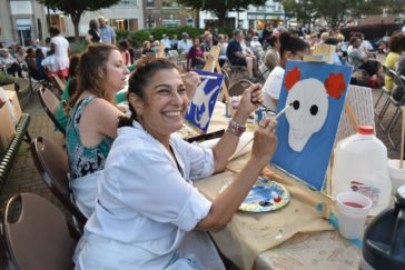 Recap: Westbury Arts Hosts Rock 'N' Roll Night With Outdoor Painting Class and Free Outdoor Concert