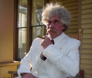 Alvey as Mark Twain