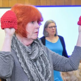 Celebrate American Heart Month By Knitting and Crocheting Red Hats for Newborns