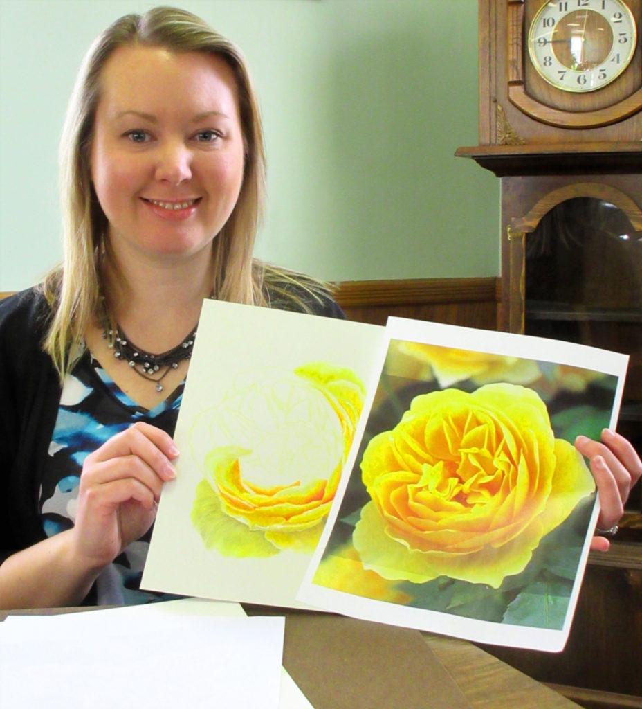 Jill Velasco with art