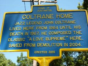 New York State Historic Marker of the John Coltrane House