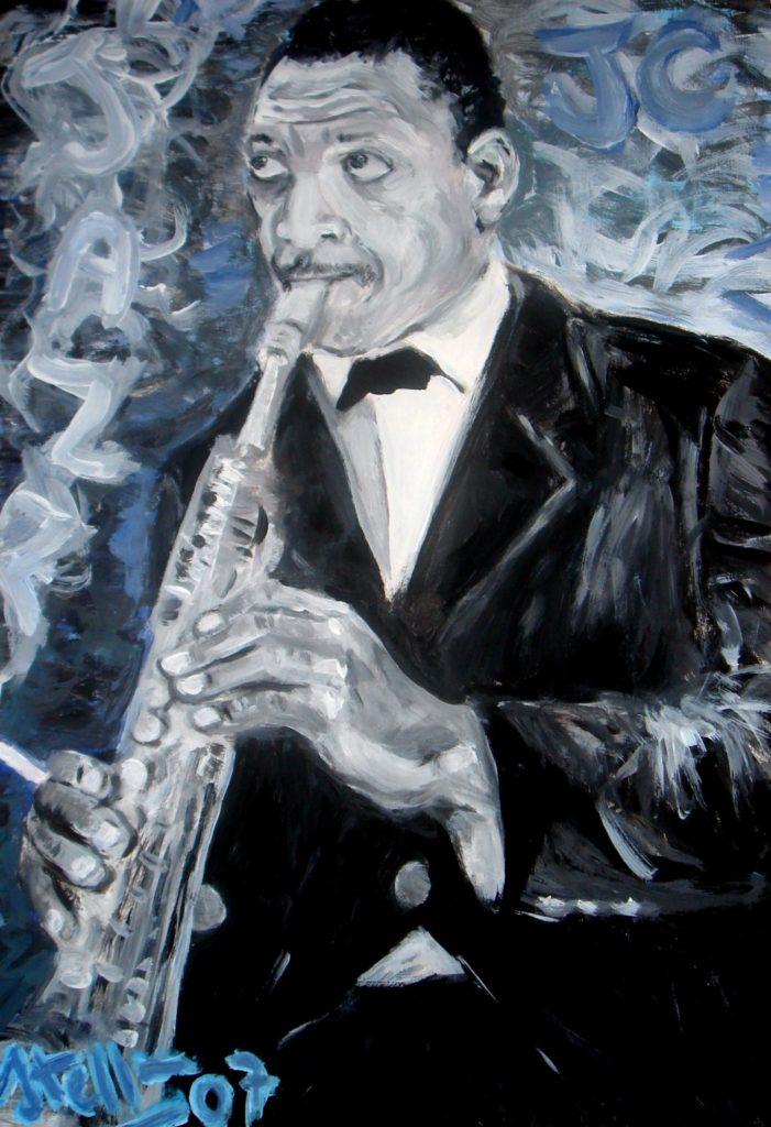 Paolo Ateffan Portrait of John Coltrane 2007