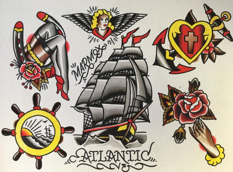 Call For Artists: Stars, Stripes and Pin Ups: Work Inspired  by Sailor Jerry