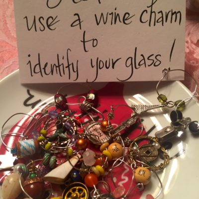 Wine Charms with sign
